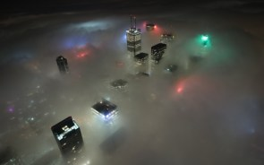 foggy city