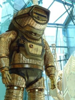 gold space suit