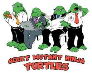 Adult Mutant Ninja Turtles