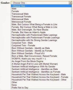 Gender Selector