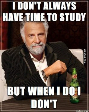 I don't always have time to study