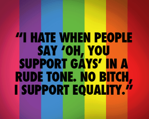 I support Equality