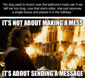 It's about sending a message