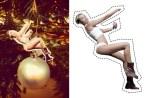 Miley Xmas tree cutout
