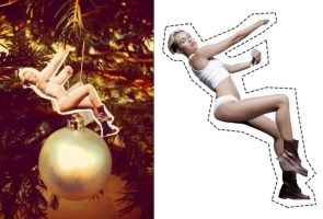 Miley Xmas tree cutout