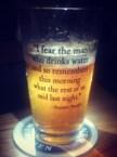 benjamin franklin on drinking