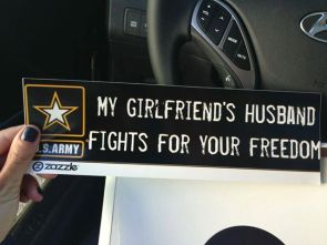 my girlfriends huband fights for your freedom
