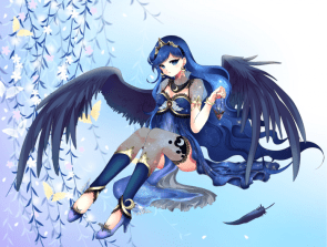 luna sits