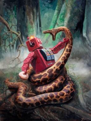 robot vs snake