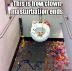 this is how clown masturbation ends