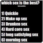 which sex is the best