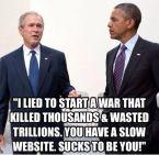 Obama had a slow website