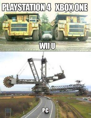 Playstation 4 vs xbox one vs wii u vs PC