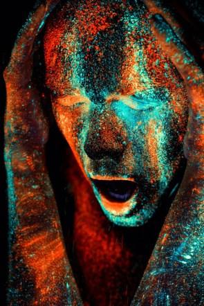 paint spray face