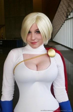 powergirl smirks