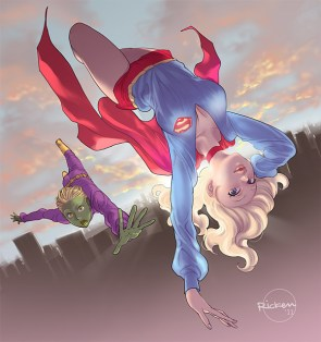 supergirl and greenboy