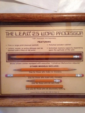 the LEAD 25 word processor