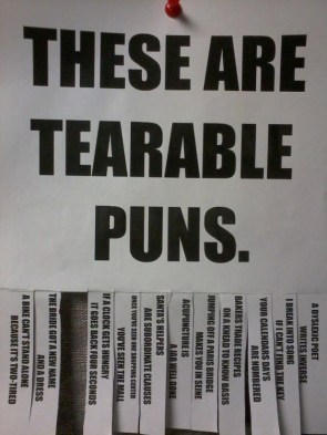 these are tearable puns 2