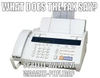 what does the fax say