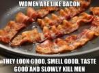 women are like bacon