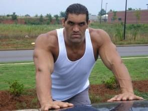 A large man