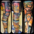 Looney Toons – Leg Tattoo