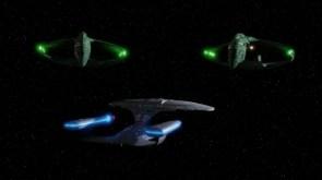enterprise vs romulan birds of prey wallpaper
