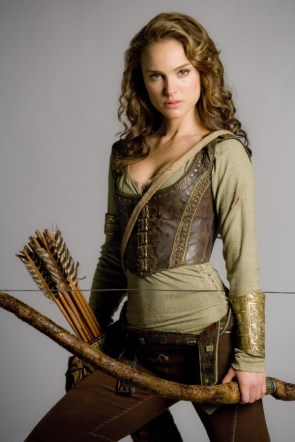 natalie portman with a bow and arrow