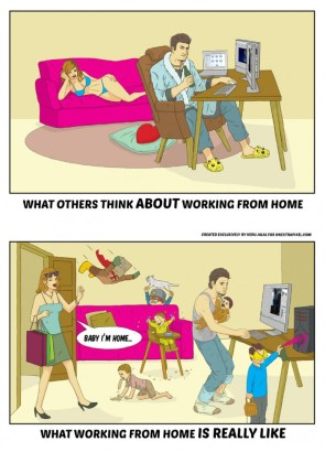 what working from home is really like