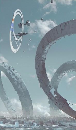 Sci Fi Artwork Ship 07 by Nicolas Ferrand
