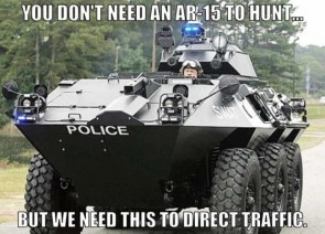 You don't need an AR-15 to hunt, but we need this to direct traffic