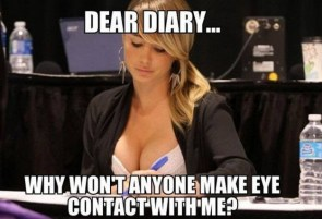 dear diary – why won't anyone make eye contact with me