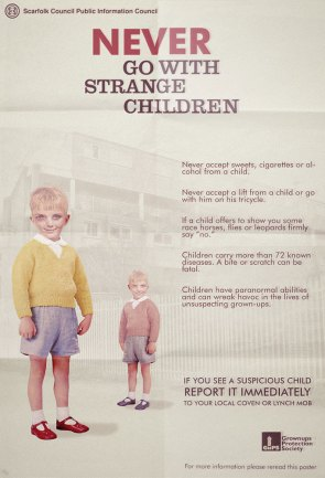 never go with strange children