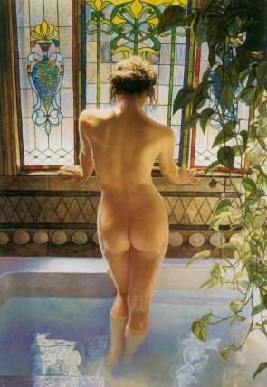 bath painting art