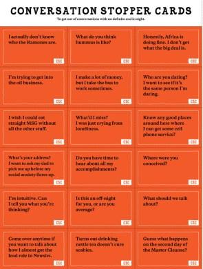 Conversation Stopper Cards