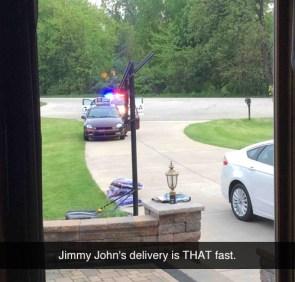 Jimmy John's is that fast