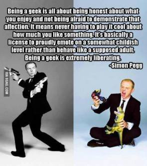 Simon Pegg on being a geek