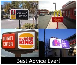 fast food good advice
