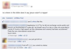 jesus wasn't a rapper