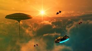 millenium falcon visits cloud city