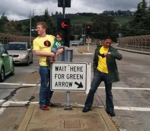 wait here for green arrow