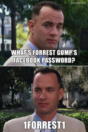what's forrest gump's facebook password
