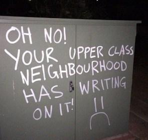 writing on your neighborhood