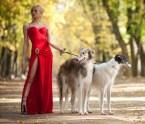 fancy dog lady