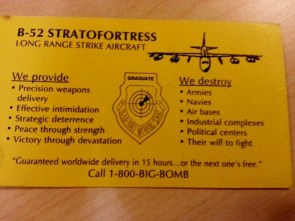 B-52 Stratofortress Business Card