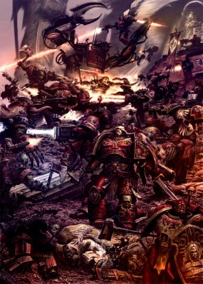 Space Marines fighting