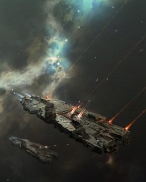 battlecruiser on a mission by oshanin