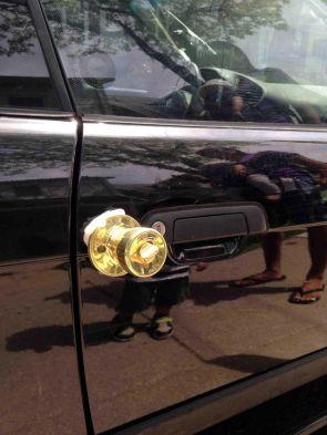 car doorknob