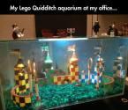 my lego quidditch aquairum at my office