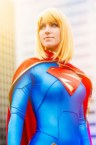 supergirl cosplayer is beautiful